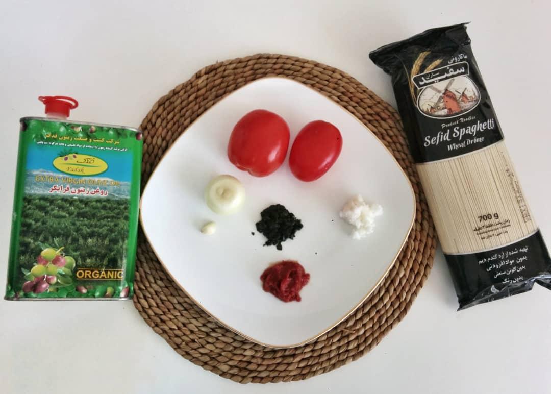 باسلام | Basalam - مواد لازم برای پاستای گیاهی با سس گوجه