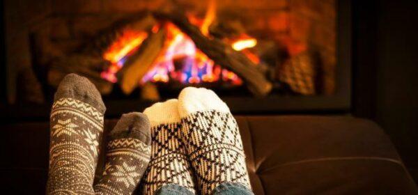 باسلام | Basalam - زمستان جوراب پشمی و شومینه