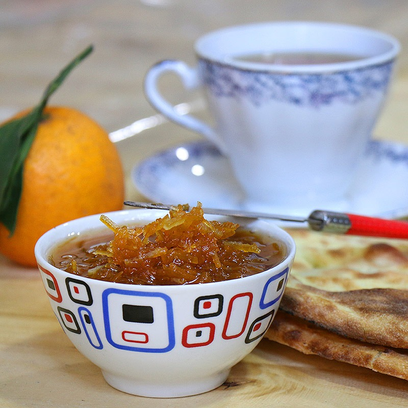 مربا هویج و خلال پرتقال