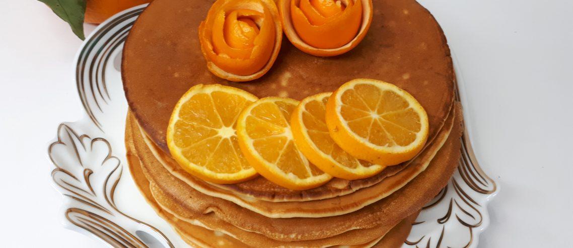 بازار باسلام - basalam - آشپزی - پنکیک وانیل و پرتقال