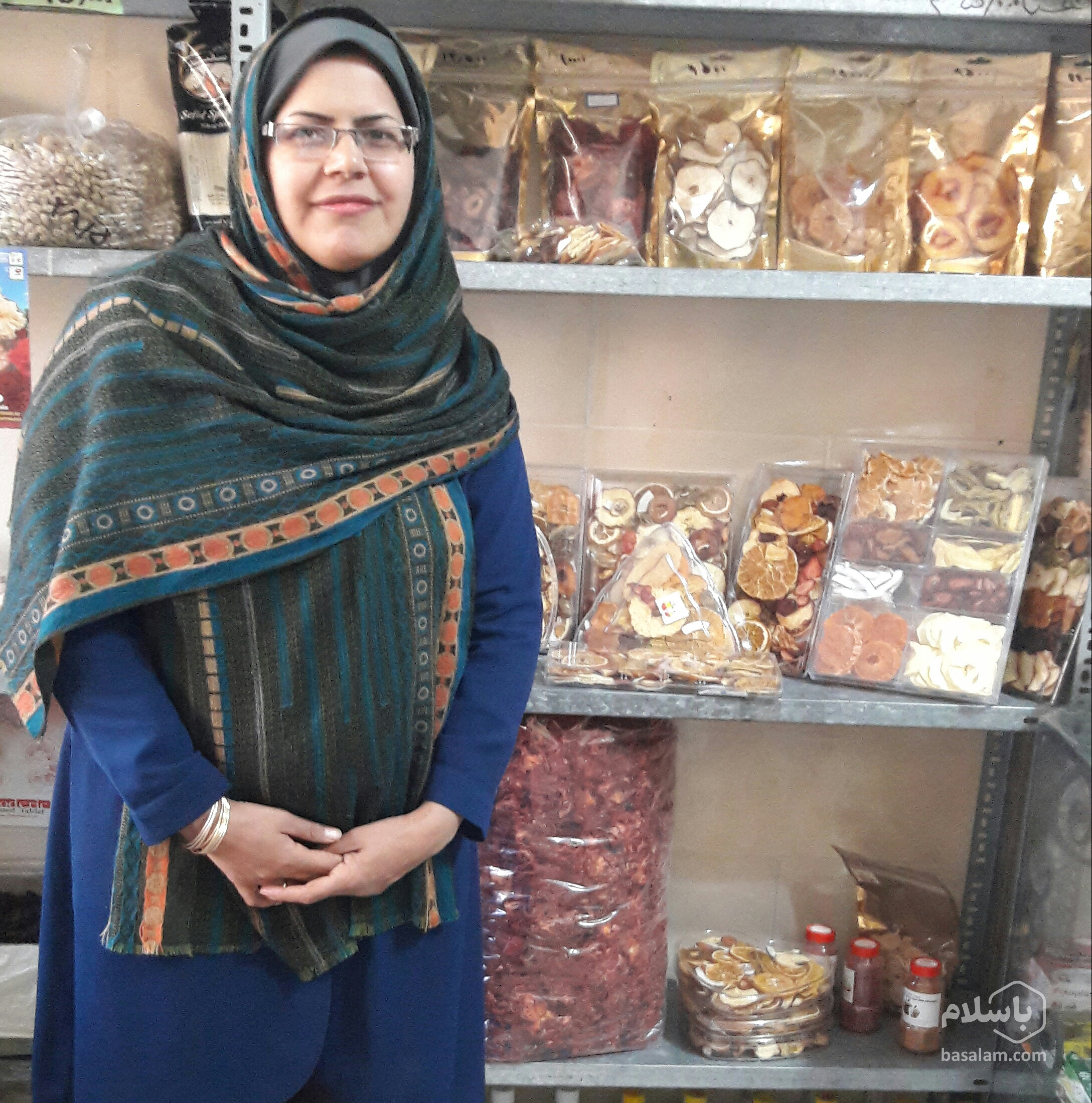 بانوی کارآفرین-خانمی که با محصول خشک پولدار شد-مجله باسلام