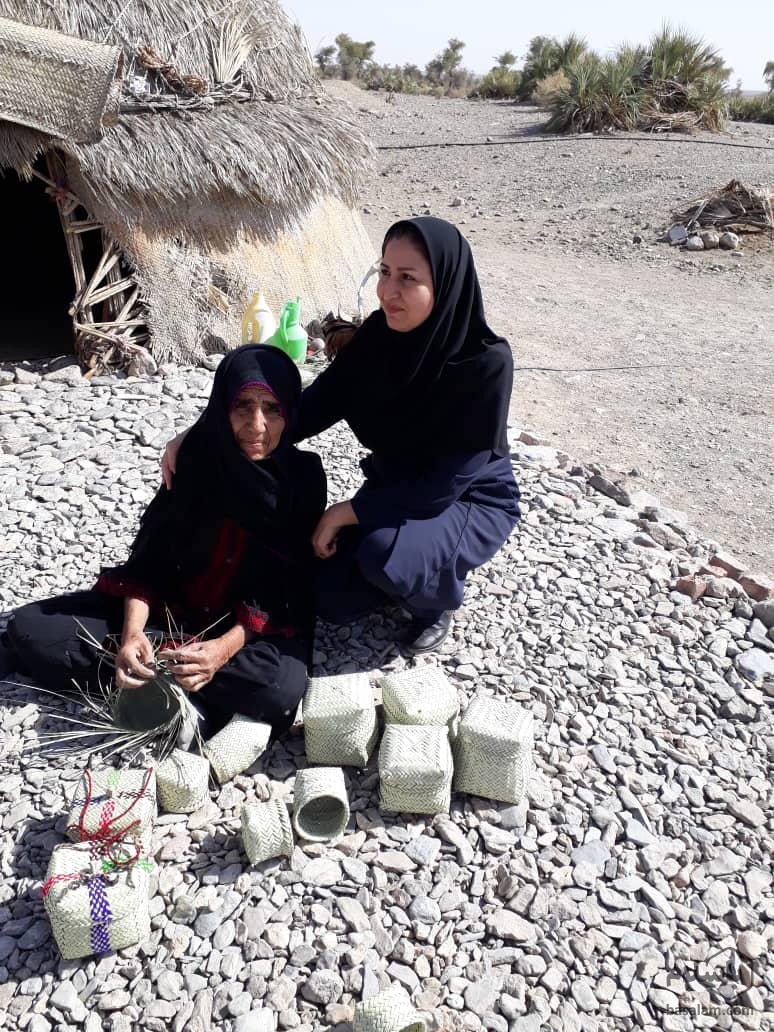حصیربافی-زنان روستا-مجله باسلام