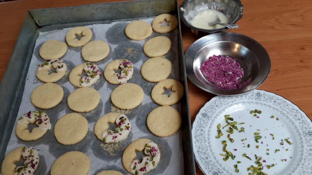 تززین شیرینی آلمانی خانگی- طرز تهیه  شیرینی خانگی عید- مجله باسلام